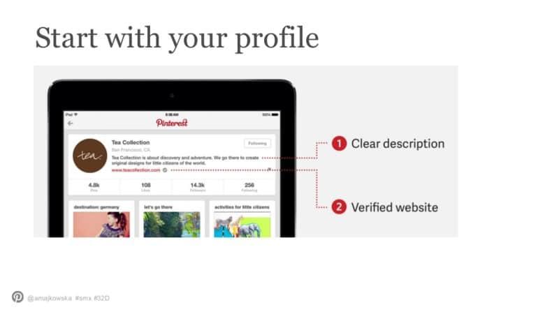 Profiliniz ile başlayın
